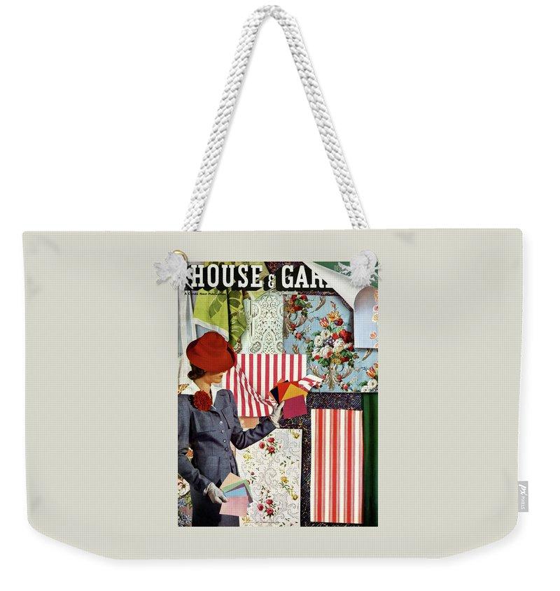 House & Garden Weekender Tote Bag featuring the photograph House & Garden Cover Illustration Of A Woman by Joseph B. Platt