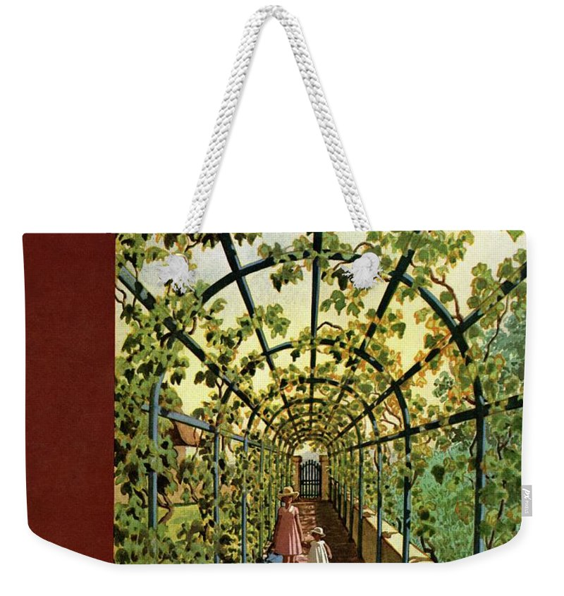 House & Garden Weekender Tote Bag featuring the photograph House & Garden Cover Illustration Of Young Girls by Pierre Brissaud
