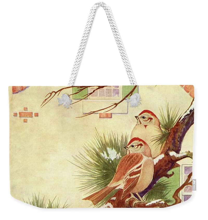 Illustration Weekender Tote Bag featuring the photograph House And Garden Cover by Charles Livingston Bull