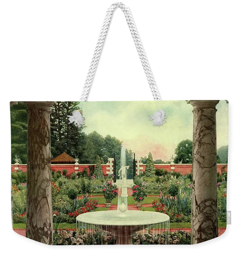 House And Garden Weekender Tote Bag featuring the photograph House And Garden Cover by Herbert Angell