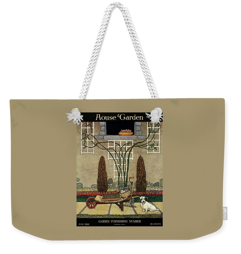 House And Garden Weekender Tote Bag featuring the photograph House And Garden Garden Furnishing Number Cover by Charles Livingston Bull