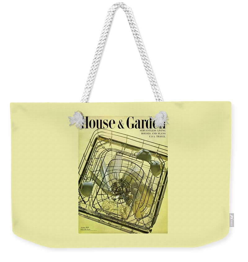 House And Garden Weekender Tote Bag featuring the photograph House And Garden Servant Less Living Houses Cover by Herbert Matter