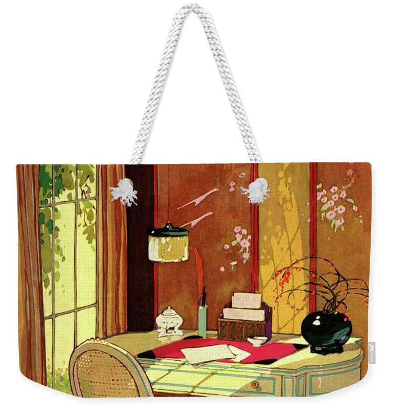 House And Garden Weekender Tote Bag featuring the photograph House And Garden Small House Number by Clayton Knight