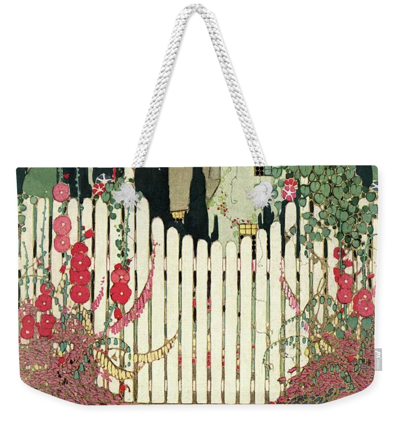 House And Garden Weekender Tote Bag featuring the photograph House And Garden Small House Number by H. George Brandt
