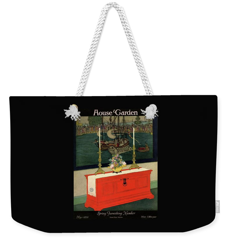 House And Garden Weekender Tote Bag featuring the photograph House And Garden Spring Furnishing Number Cover by Lurelle Guild