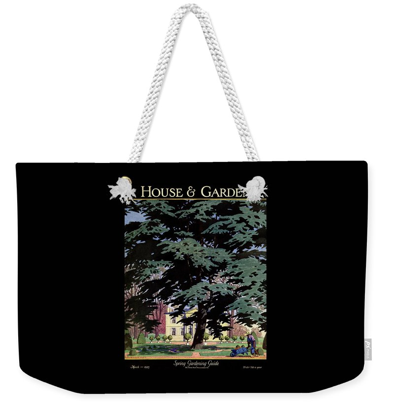 House And Garden Weekender Tote Bag featuring the photograph House And Garden Spring Gardening Guide Cover by Pierre Brissaud