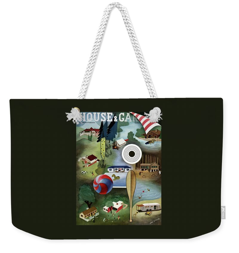 House And Garden Weekender Tote Bag featuring the photograph House And Garden Summer Camps And Cottages Cover by Erik Nitsche