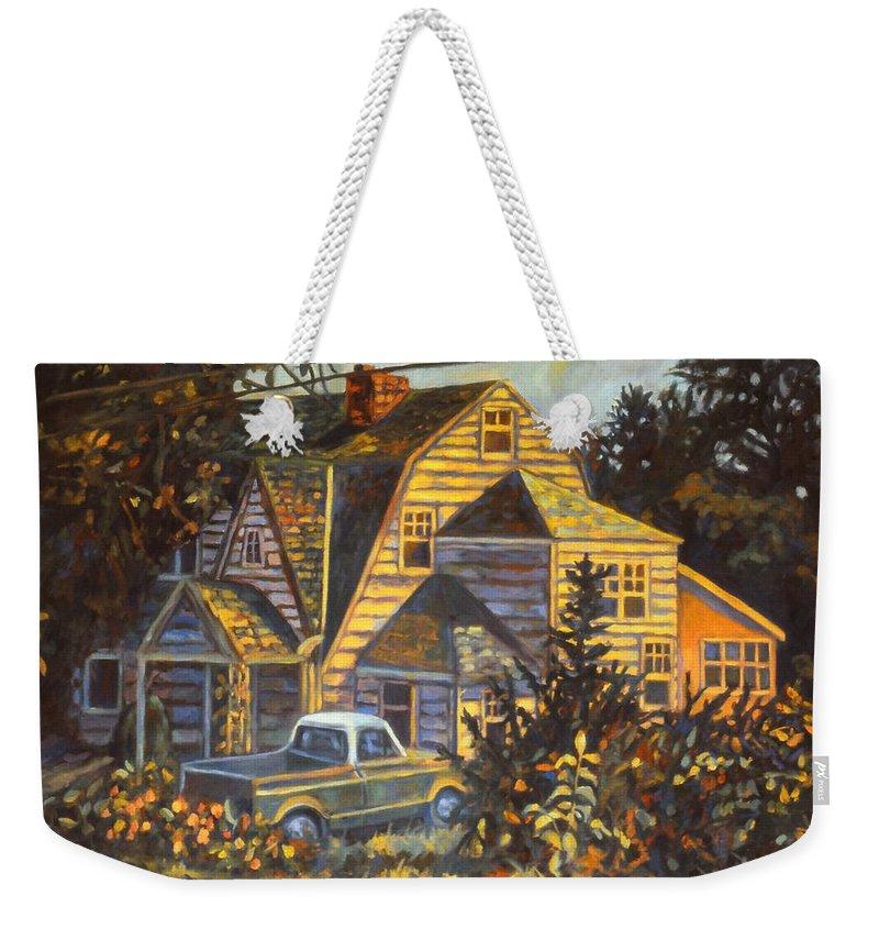 Kendall Kessler Weekender Tote Bag featuring the painting House In Christiansburg by Kendall Kessler