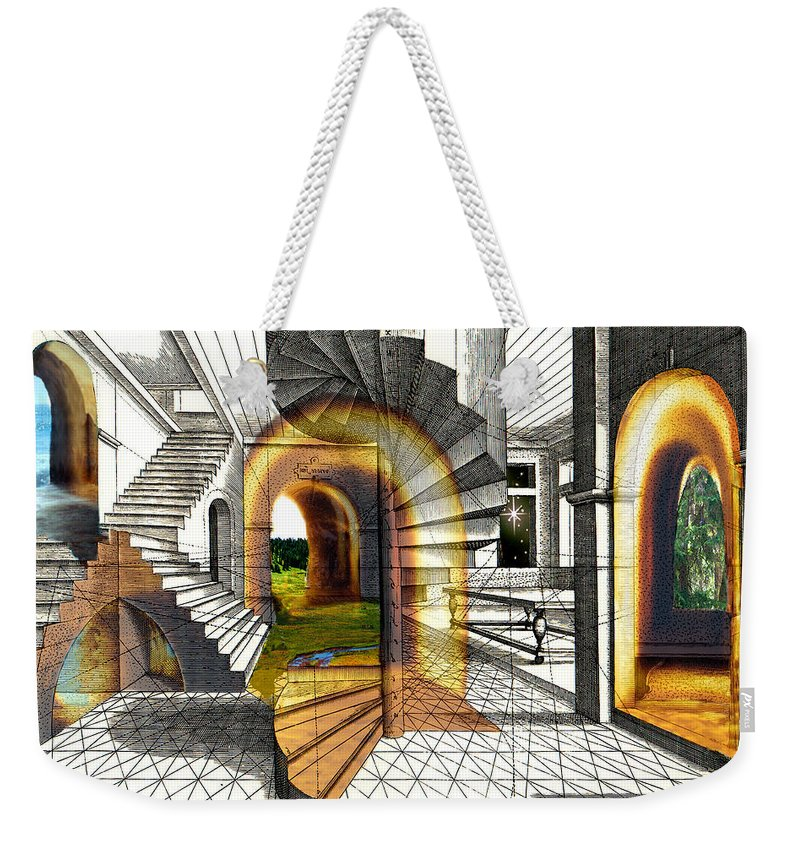 House Weekender Tote Bag featuring the digital art House Of Dreams by Lisa Yount
