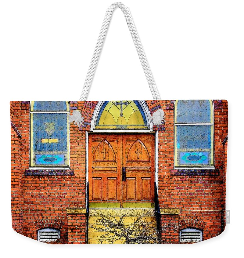 Digital Art Weekender Tote Bag featuring the photograph House Of God by Rodney Lee Williams