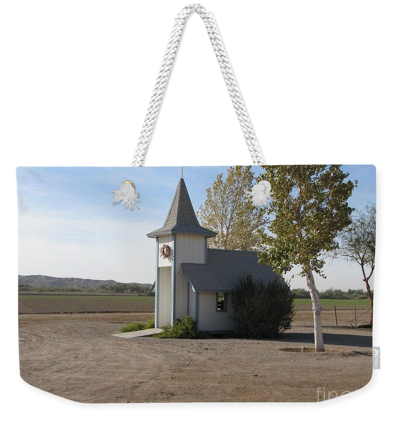 Patzer Weekender Tote Bag featuring the photograph House Of The Lord by Greg Patzer