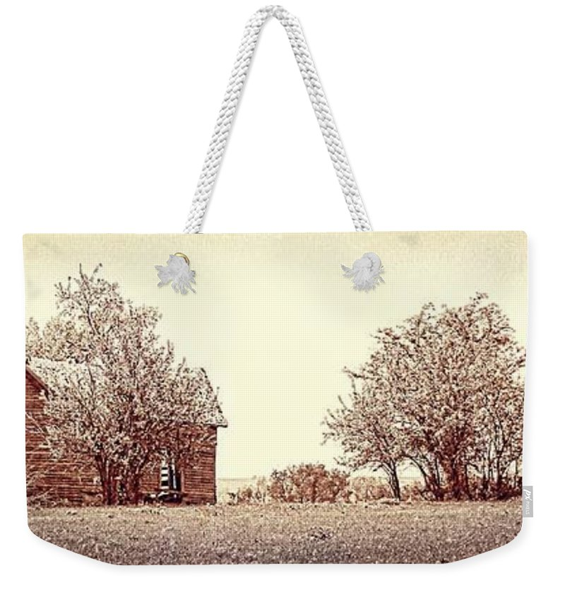Kansas Weekender Tote Bag featuring the photograph House On 4 Mile Road P3 by Sharlotte Hughes