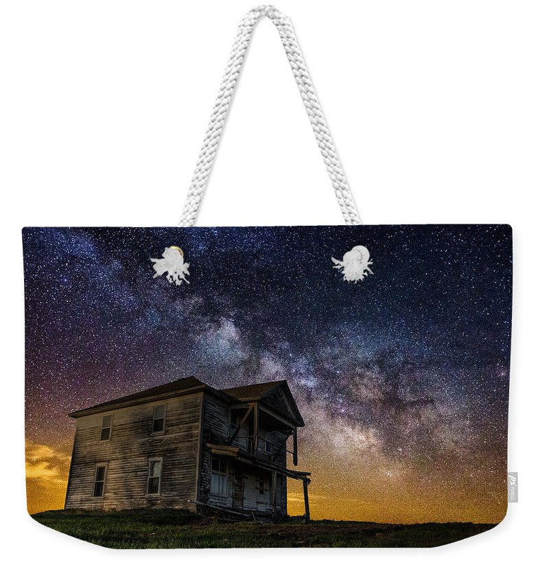 Dark Place Weekender Tote Bag featuring the photograph House On The Hill by Aaron J Groen