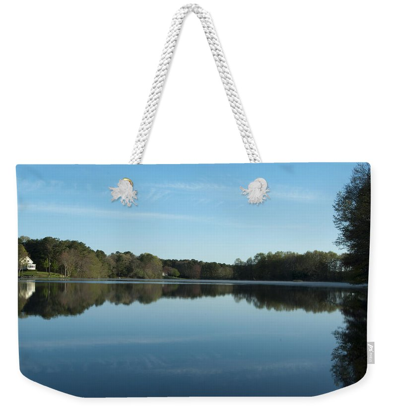 Photography Weekender Tote Bag featuring the photograph House On The Pond by Steven Natanson