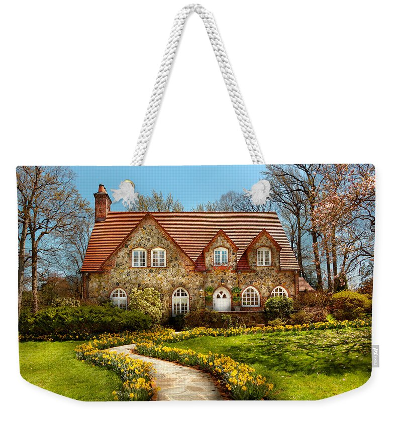 Savad Weekender Tote Bag featuring the photograph House - Westfield Nj - The Estates by Mike Savad