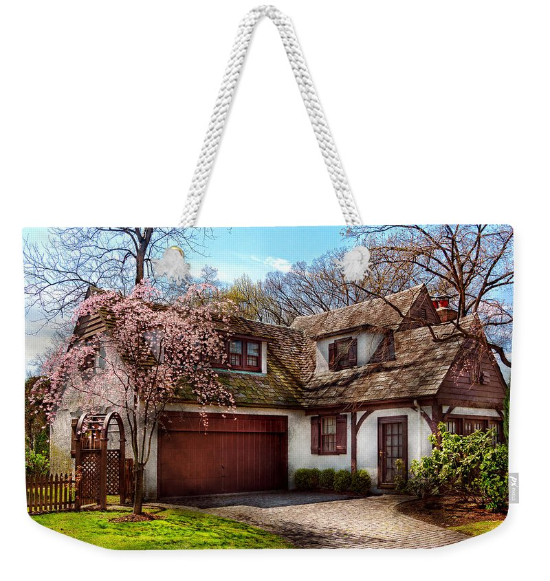 Savad Weekender Tote Bag featuring the photograph House - Westfield Nj - Who Doesn't Love Spring by Mike Savad