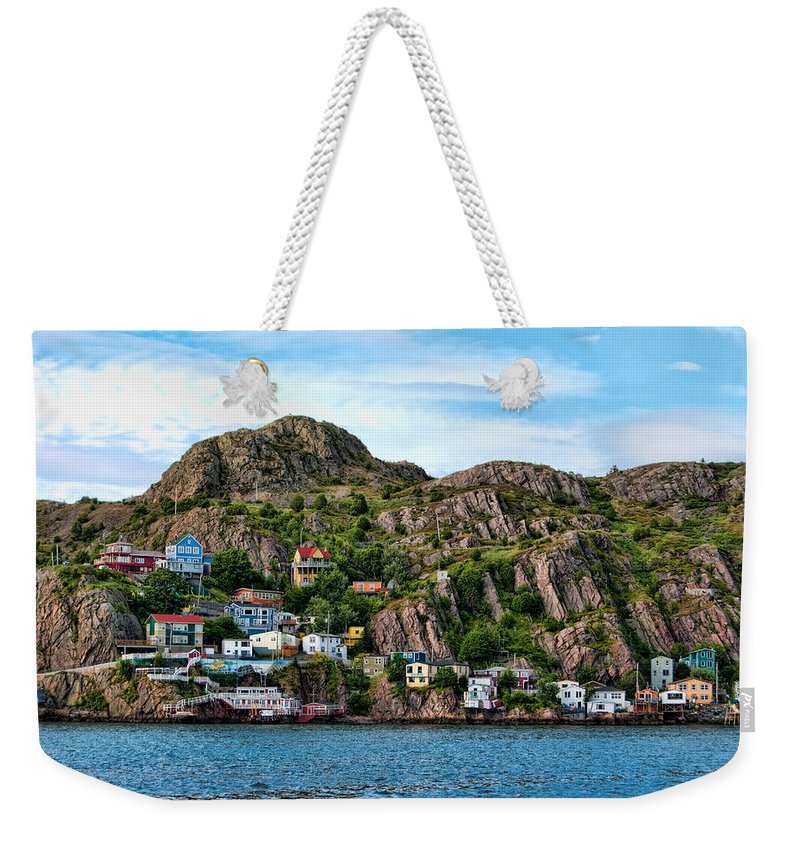 Atlantic Weekender Tote Bag featuring the photograph Houses On Hillside by Boss Photographic