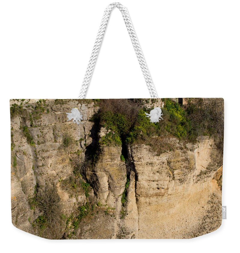 Ronda Weekender Tote Bag featuring the photograph Houses On Rock In Ronda by Artur Bogacki