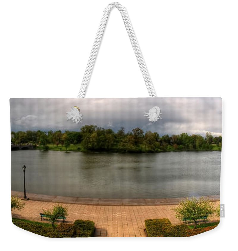 Hoyt Lake Weekender Tote Bag featuring the photograph Hoyt Lake At Delaware Park by Michael Frank Jr