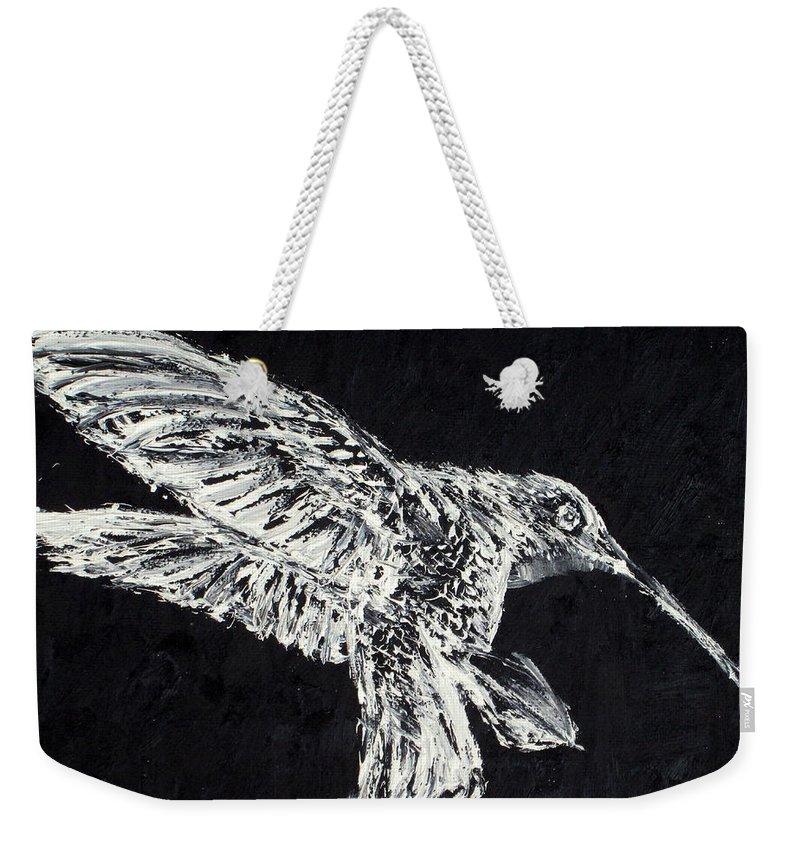 Hummingbird Weekender Tote Bag featuring the painting Hummingbird by Fabrizio Cassetta