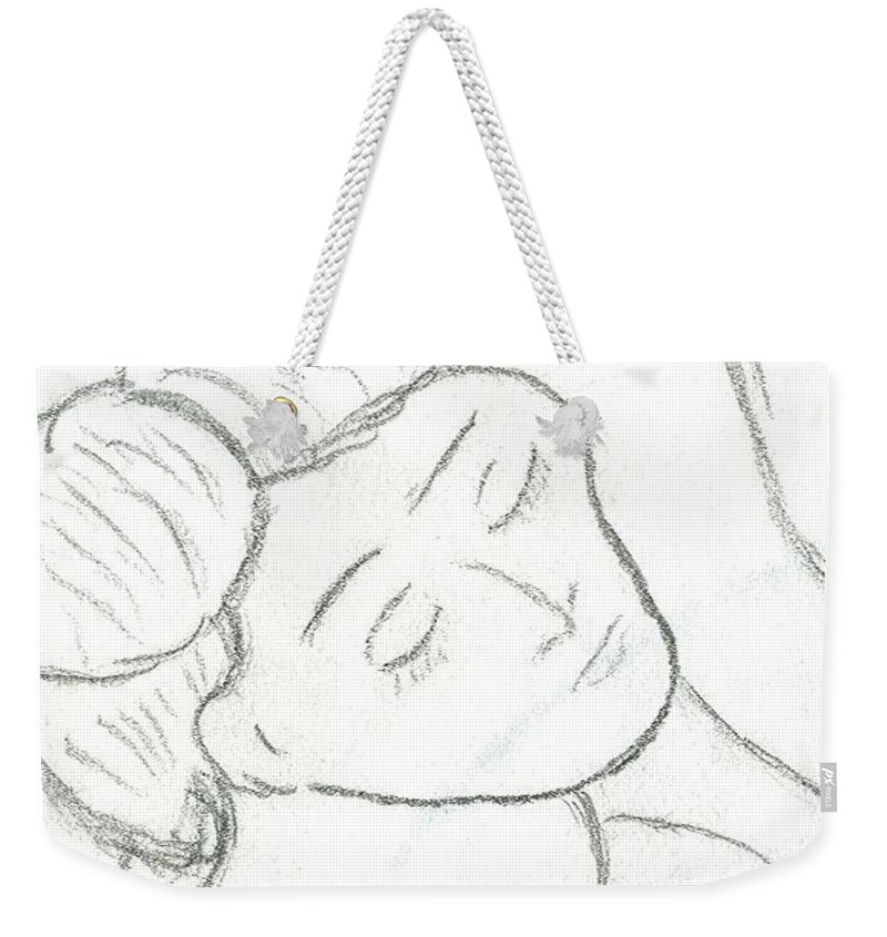 Woman Weekender Tote Bag featuring the photograph Hungry Girl by Amy Hosp