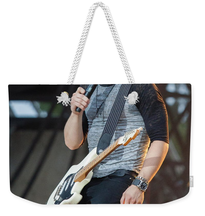 Hunter Hayes Weekender Tote Bag featuring the photograph Hunter Hayes 1 by Mike Burgquist