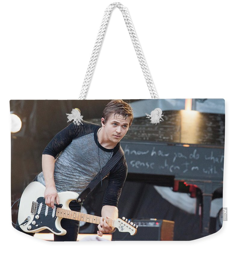 Hunter Hayes Weekender Tote Bag featuring the photograph Hunter Hayes by Mike Burgquist