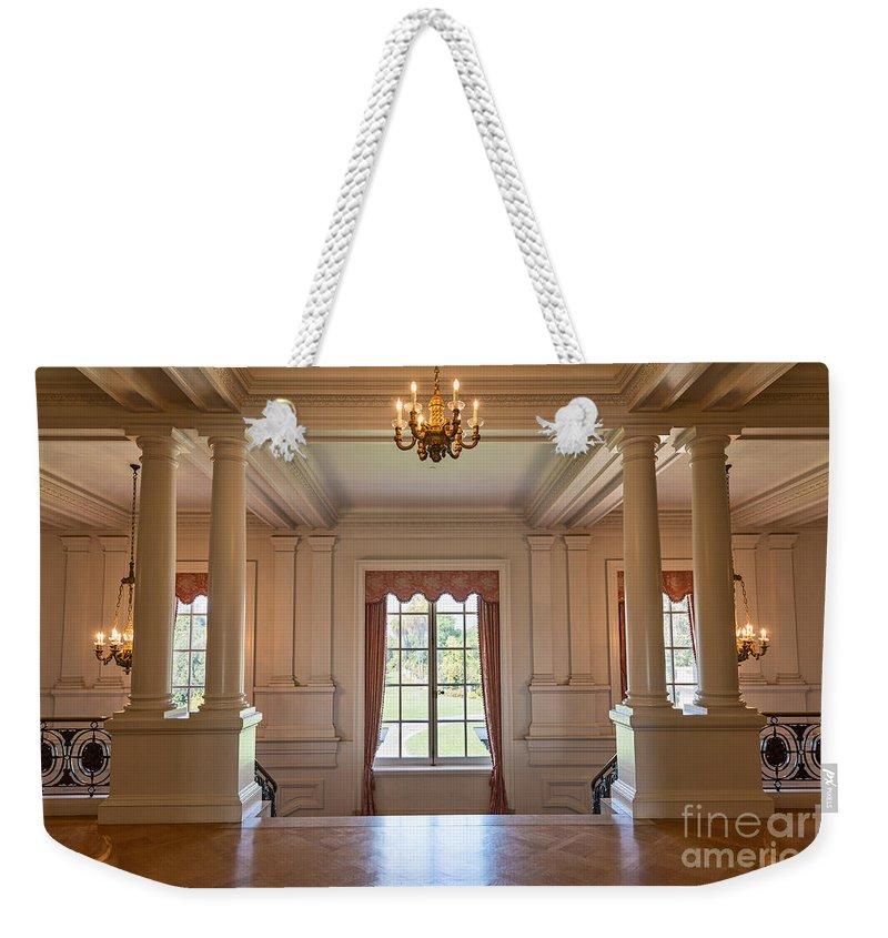 Huntington Art Gallery Weekender Tote Bag featuring the photograph Huntington Art Gallery Interior. by Jamie Pham
