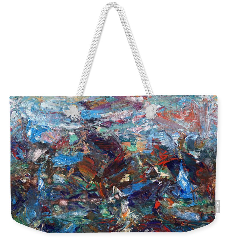 Hurricane Weekender Tote Bag featuring the painting Hurricane by James W Johnson