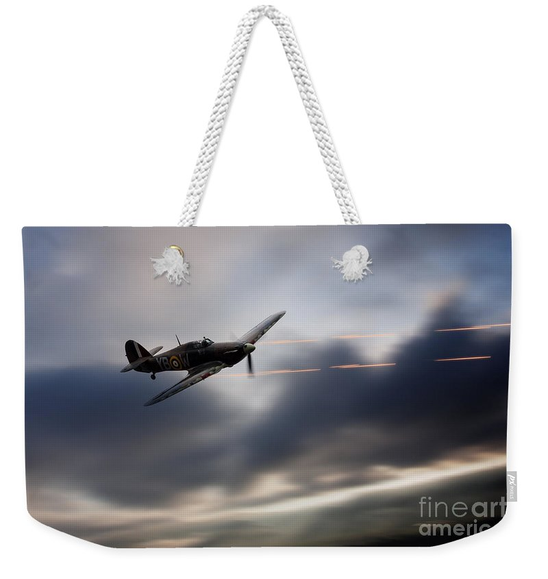 Hawker Weekender Tote Bag featuring the digital art Hurricane Sting by J Biggadike