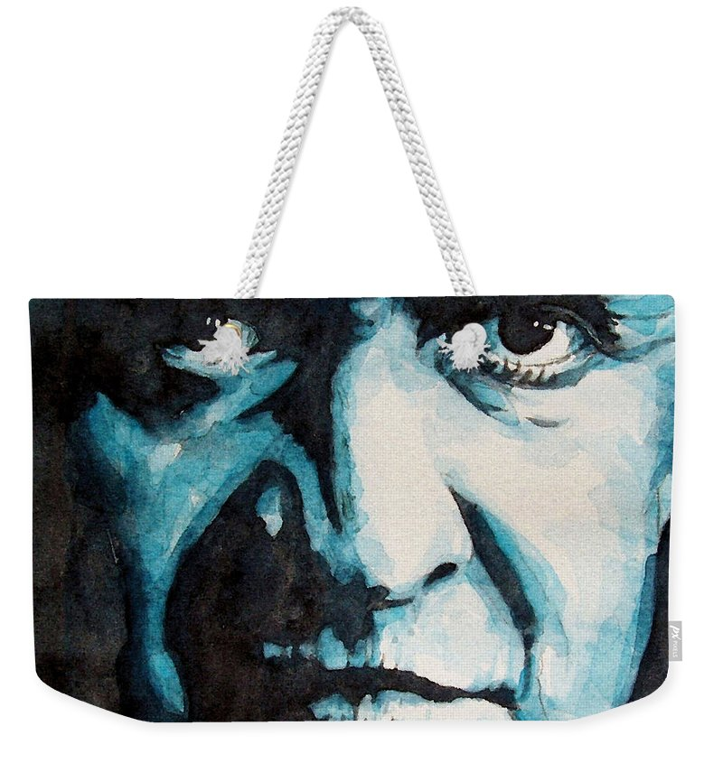 Johnny Cash Weekender Tote Bag featuring the painting Hurt by Paul Lovering