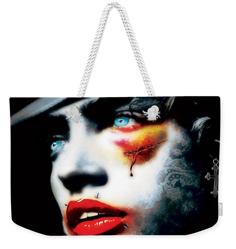 Man Weekender Tote Bag featuring the digital art Hurtman by Jan Raphael
