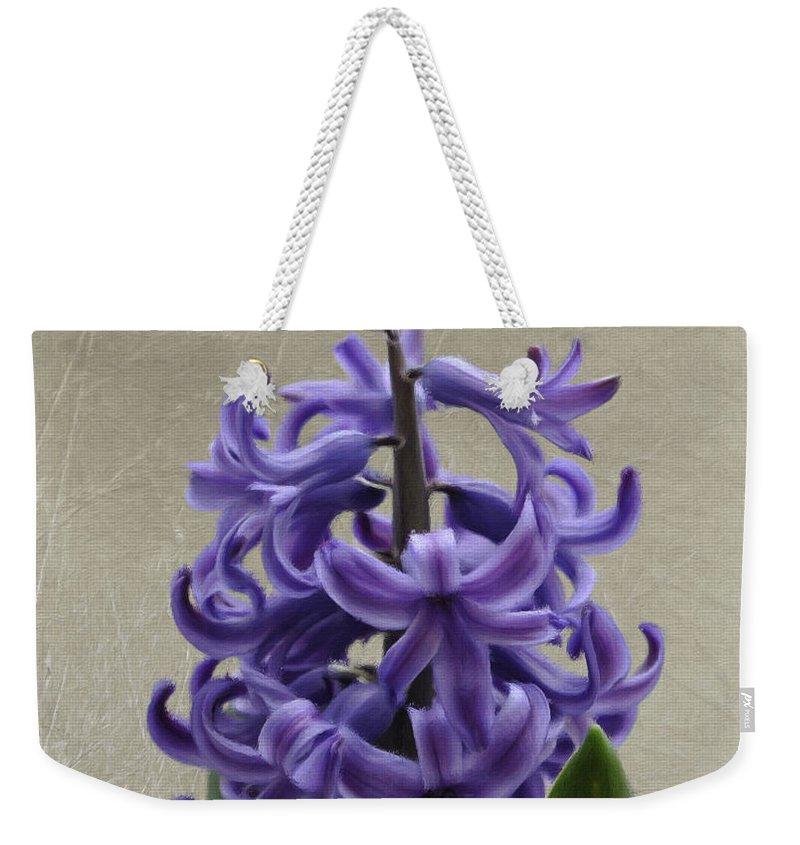 Bloom Weekender Tote Bag featuring the painting Hyacinth Purple by Jeffrey Kolker