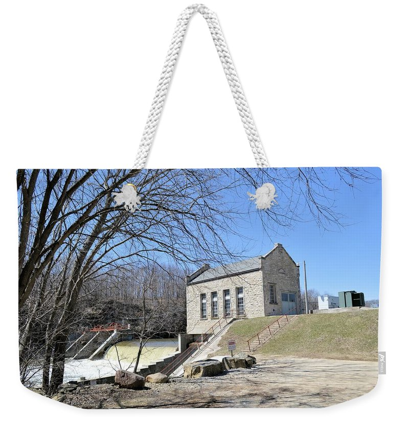 Dam Weekender Tote Bag featuring the photograph Hydo-power by Bonfire Photography