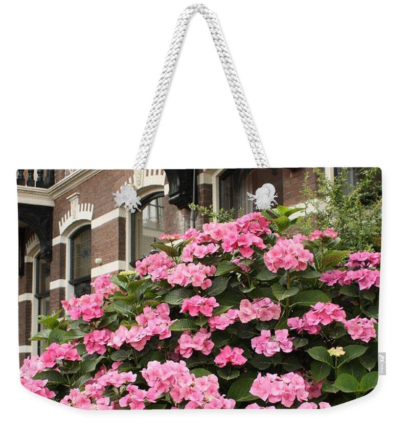 Hydrangeas Weekender Tote Bag featuring the photograph Hydrangeas In Holland by Carol Groenen
