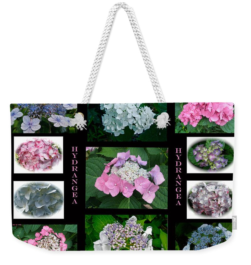 Hydrangea Weekender Tote Bag featuring the photograph Hydrangeas On Parade by Mother Nature