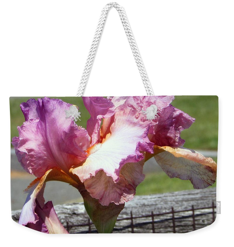 Pink Weekender Tote Bag featuring the photograph I Am Soft And Pink by Debi Singer