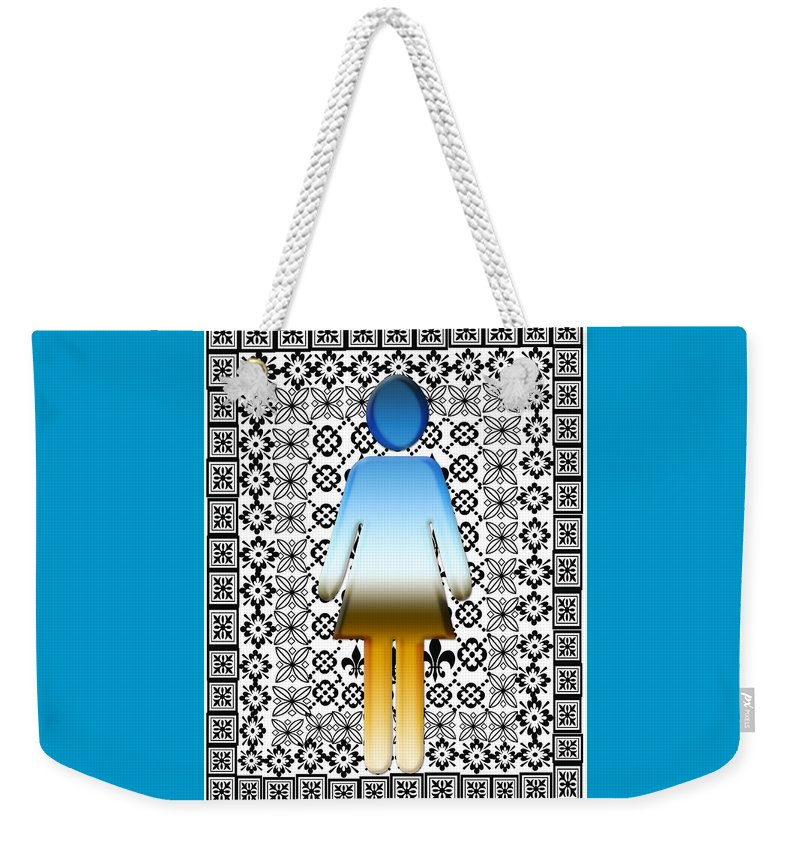 Girl Weekender Tote Bag featuring the digital art I Am Woman by Laura Pierre-Louis