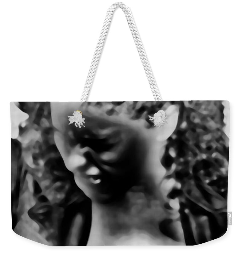 Black Weekender Tote Bag featuring the photograph I Have Issues by Jessica Shelton