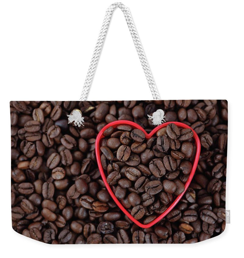 Crockery Weekender Tote Bag featuring the photograph I Love Coffee by Ekaterina79