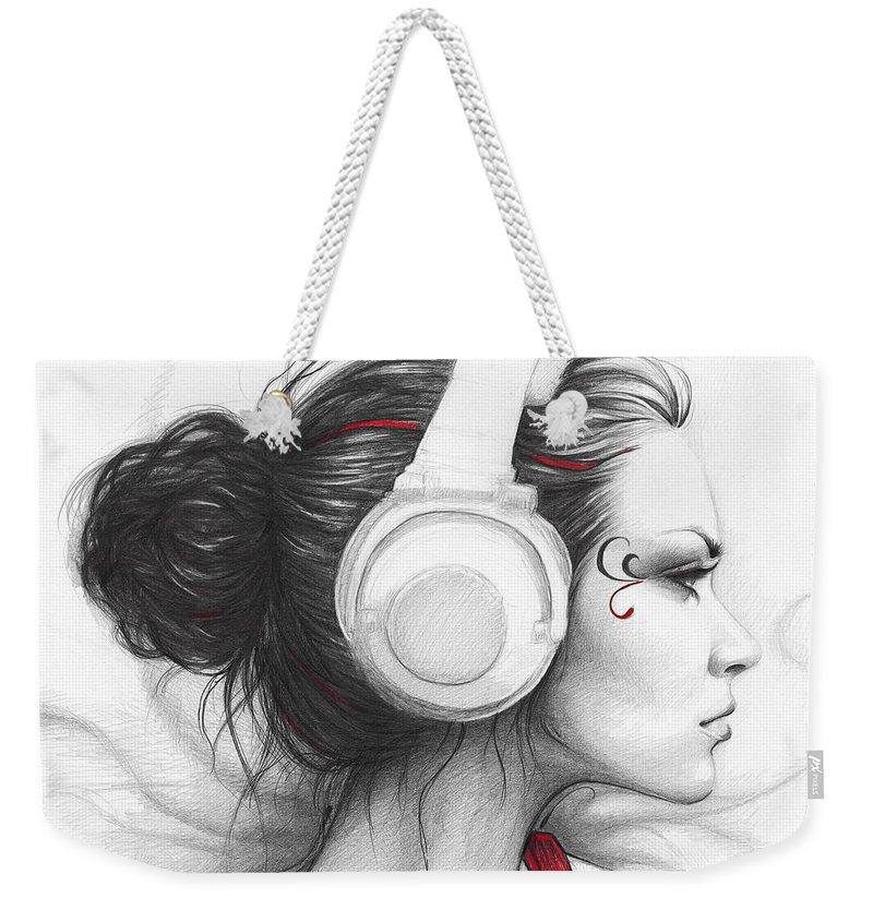 Beautiful Girl Weekender Tote Bags