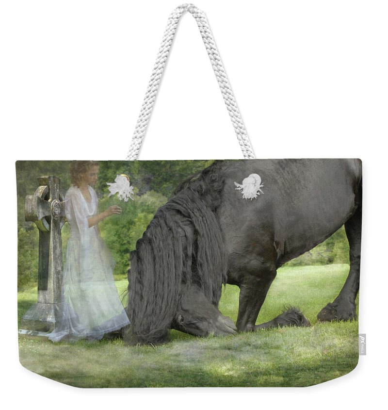 Horses Weekender Tote Bag featuring the photograph I Miss You by Fran J Scott
