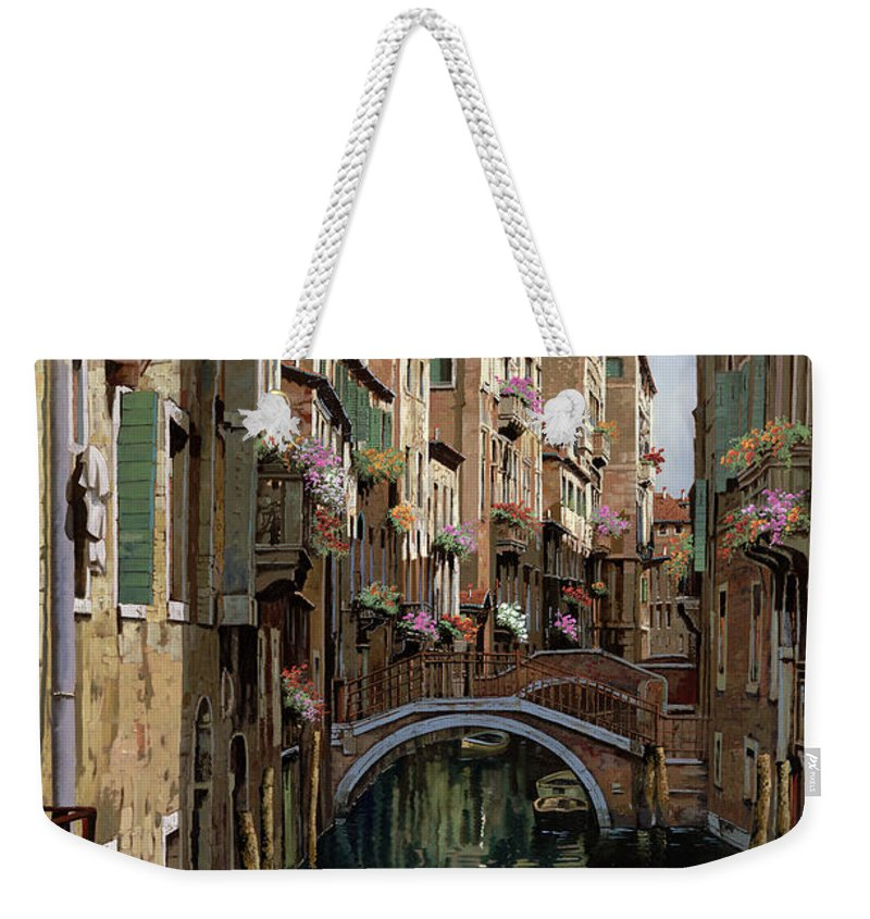 Venice Weekender Tote Bag featuring the painting I Ponti A Venezia by Guido Borelli