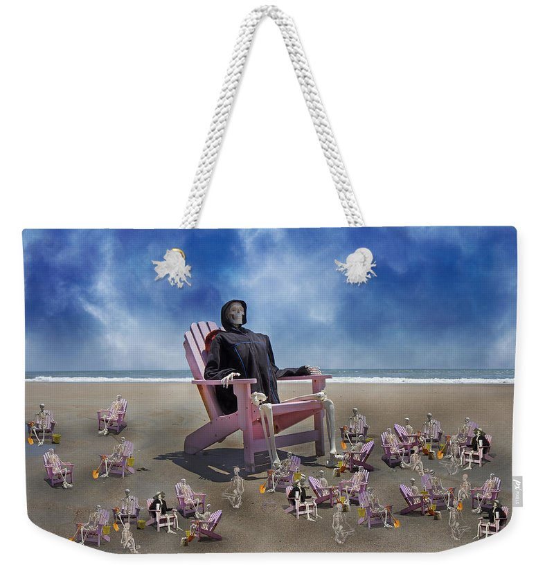 Human Weekender Tote Bag featuring the photograph I Still Know What You Did Last Summer by Betsy Knapp