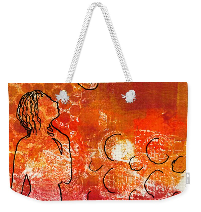 Printing Weekender Tote Bag featuring the painting I Too Have A Dream by Angela L Walker