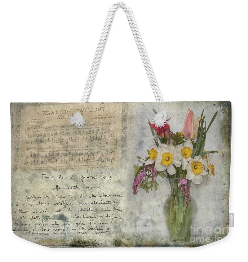 Music Weekender Tote Bag featuring the photograph I Want The Twilight And You by David Arment