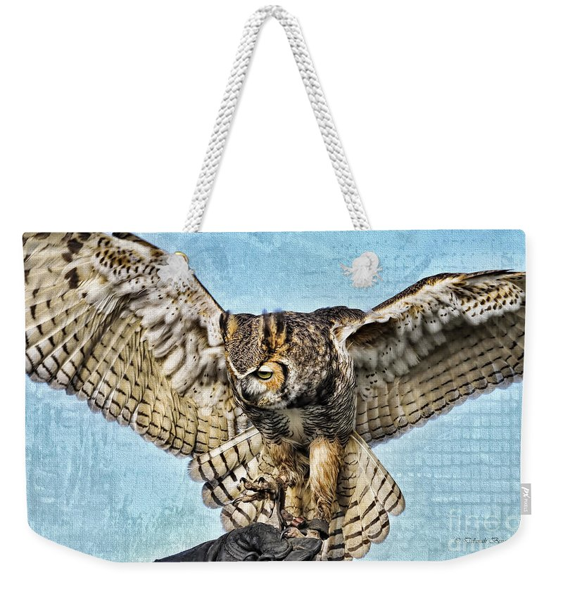 Owl Weekender Tote Bag featuring the photograph I Want To Fly by Deborah Benoit