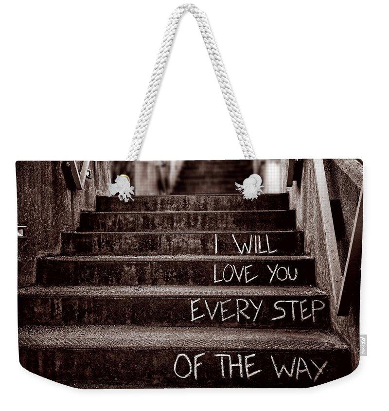 Stairs Weekender Tote Bags