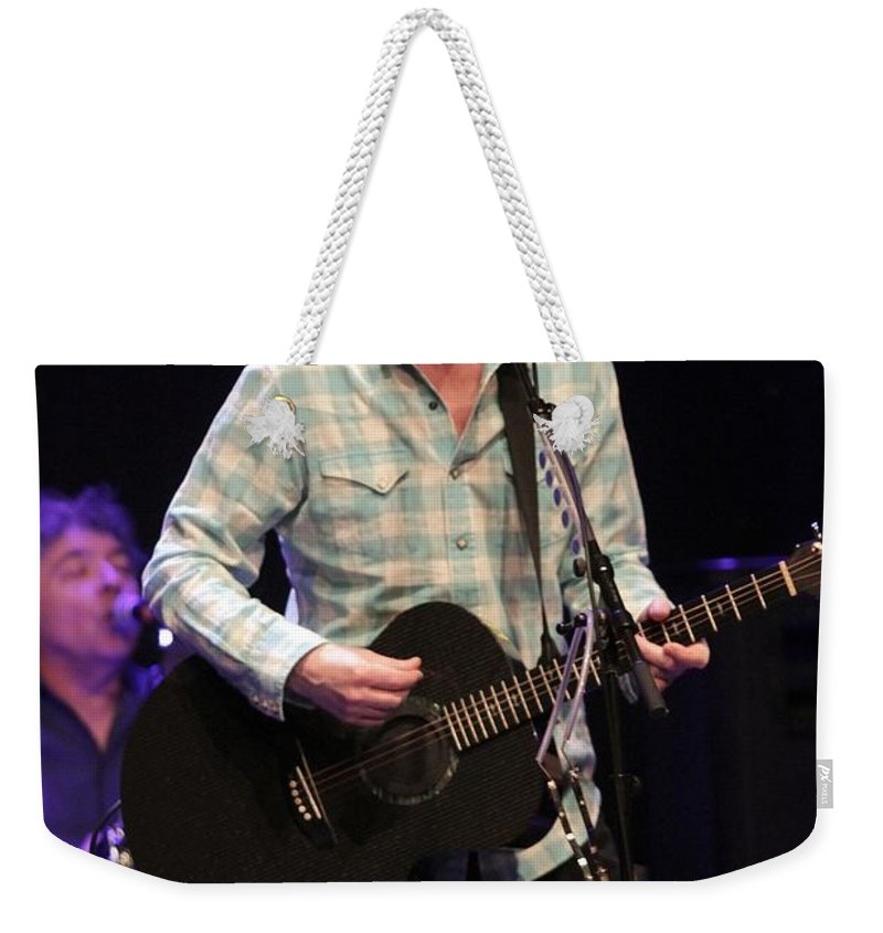 Posters Weekender Tote Bag featuring the photograph Ian Hunter And The Rant Band by Concert Photos