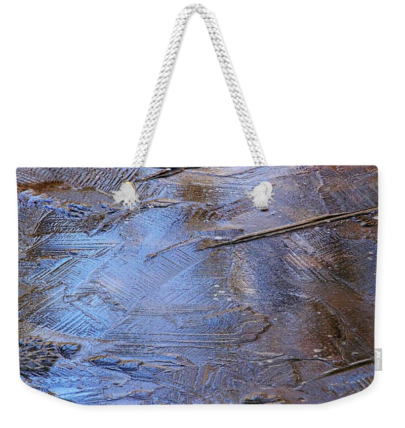 Nature Weekender Tote Bag featuring the photograph Ice Cold Nature Abstract by Christina Rollo